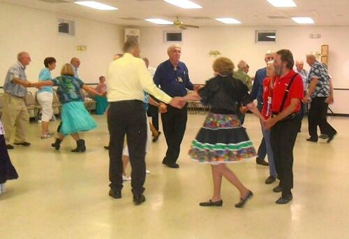 Dancing at Wheelers & Dealers Square Dance Club.